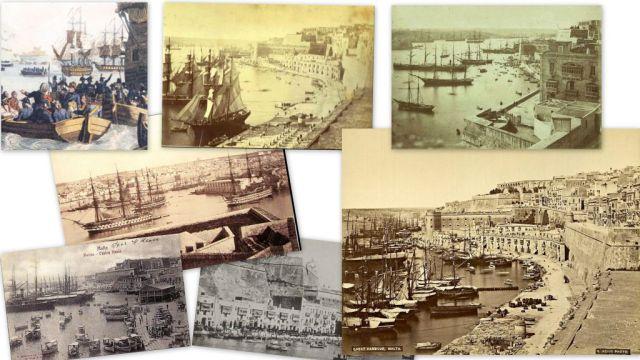 Grand Harbour, 18.-20.század, kollázs