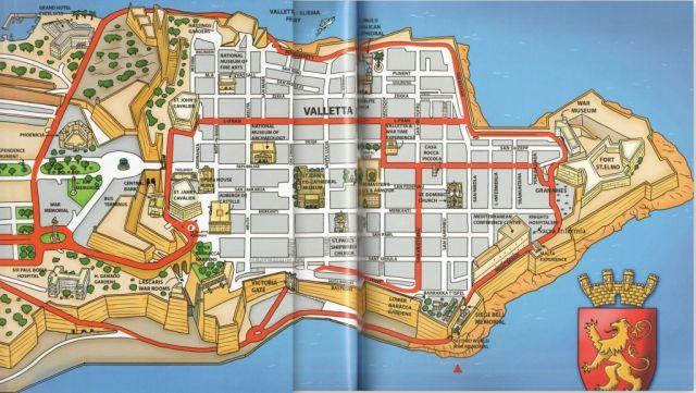 Grand Harbour hajó kirándulás - Harang emlékmű - map