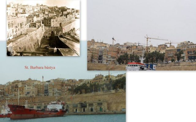 Valletta, Grand Harbour, St. Barbara bástya