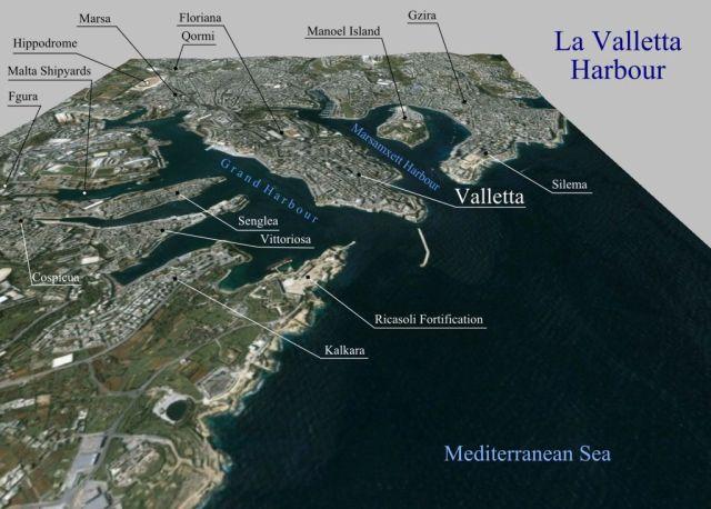 La_Valletta_Harbour- NASA World Wind
