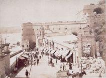 Liesse Street during Marina Gate (v. porta Del Monte) demolition 1884 april by Frank Lea-Ellis photostream