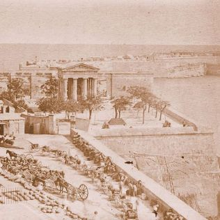 Lower Barakka, Valletta 1870's -f