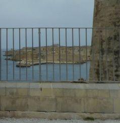 Málta P1670519 Valletta Fort St. Elmoból kilátás