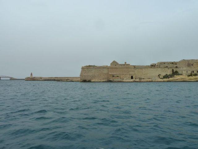 Málta P1670746 Grand Harbour, Ricasoli világítótorony