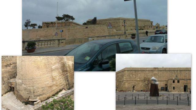Valletta- Elővédművek, St. James cavalier és pajzsgát