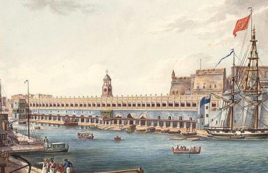 Charles Frederick de Brocktorff(1775/85 - 1850) - watercolor