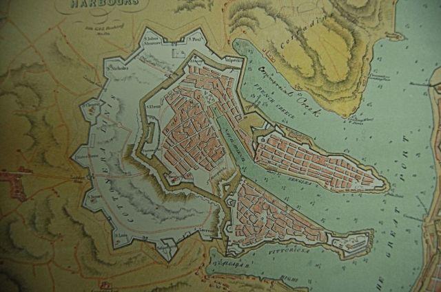 Cottonera map a Három Város . Brocktorff rajz, mfq1220