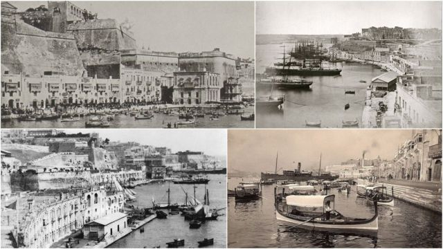 Grand Harbour , Lascaris Wharf- kollázs