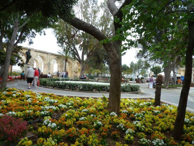 Málta P1670344 Valletta, Felső Barrakka kertek