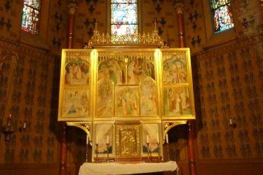 Szent Erzsébet plébánia templom P1730327, Pesterzsébet- Szt. Erzsébet szárnyasoltár