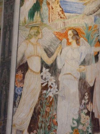 Szent Erzsébet plébánia templom P1730671 táncoló angyalok, Pesterzsébet