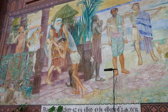Szent Erzsébet plébánia templom P1730676 A tékozló fiú hazatérése, Pesterzsébet