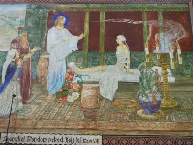 Szent Erzsébet plébánia templom P1730684 Jairus leányának feltámasztása, Pesterzsébet