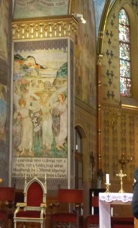 Szent Erzsébet plébánia templom P1730687 táncoló angyalok, Pesterzsébet