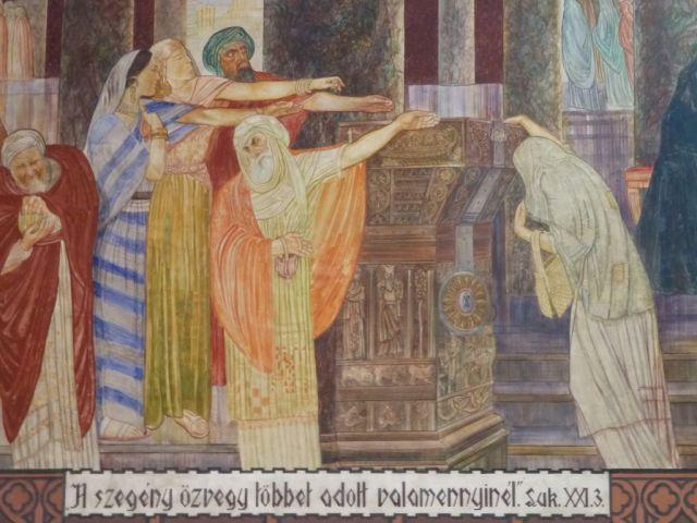 Szent Erzsébet plébánia templom P1730693 A szegény asszony két fillére, Pesterzsébet