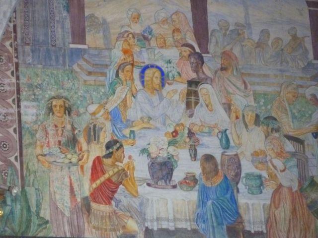 Szent Erzsébet plébánia templom P1730702 Kánai menyegző, Pesterzsébet
