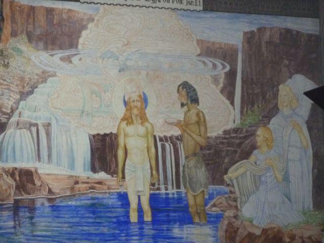 Szent Erzsébet plébánia templom P1730706, Krisztus megkeresztelése Pesterzsébet