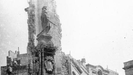 Győzelmi emlékmű romokban, Birgu