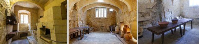 Inkvizitori palota, konyha és ebédlő- kollázs 2