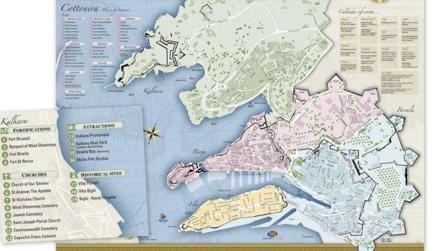Cottonera map, kiemelten Kalkara látványosságok