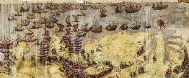 Matteo Perez d'Aleccio (1575-1581)- 1565. Nagy Ostrom freskó ciklus 01
