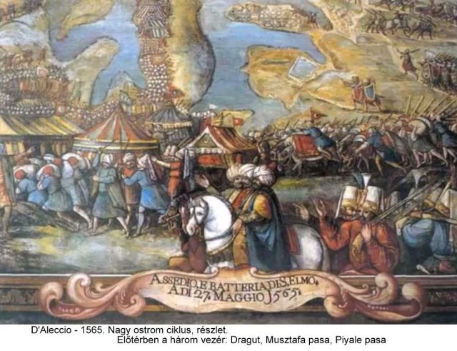 Matteo Perez d'Aleccio (1575-1581)- 1565. Nagy Ostrom freskó ciklus, részlet