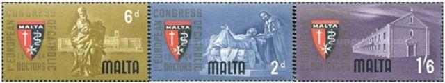 máltai orvosi történet bélyegei