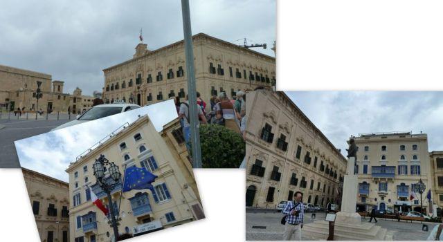 Valletta Castille tér - kollázs