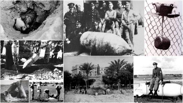 Bombák és hatástalanításuk - kollázs