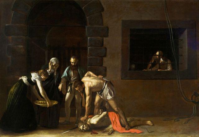 Caravaggio - Szent János lefejezése, forrás- stjohnscocathedral.com