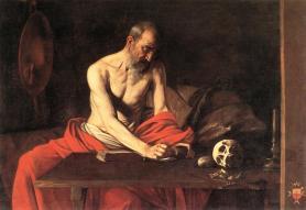 Caravaggio -Szent Jeromos