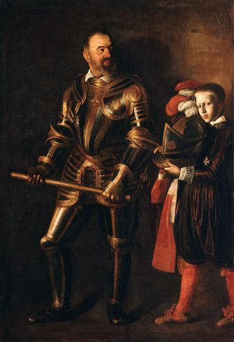 Caravaggio_Portrait_of_Alof_de_Wignacourt_and_his_Page (1607-1608)