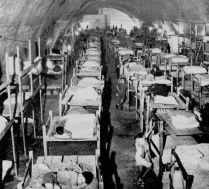 During the siege of Malta, population fled to caves and shelters in its rocky earth