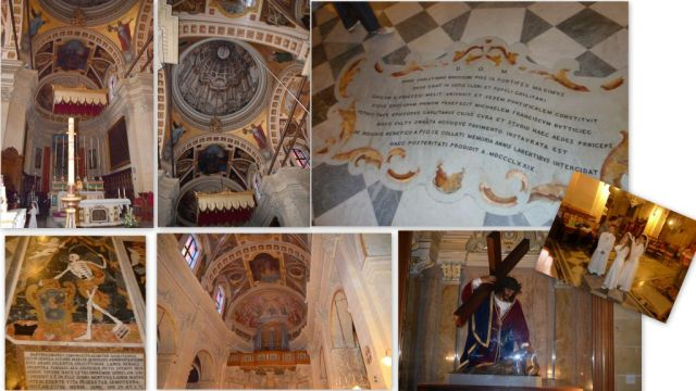 Gozo Cittadella, Katedrális belső- kollázs 2