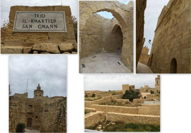 Gozo - Cittadella, romok kollázs