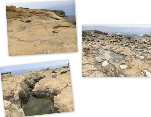 Gozo, tengerpart, sziklák