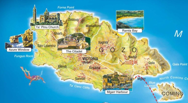 mapamalta1, Gozo