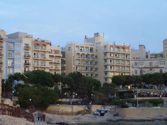 Málta P1690191 Sliema este, szállodánk