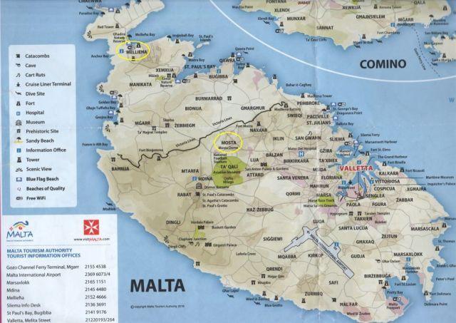 Málta szgt térképe