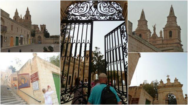 Melliehai templomudvar és kilátó- kollázs