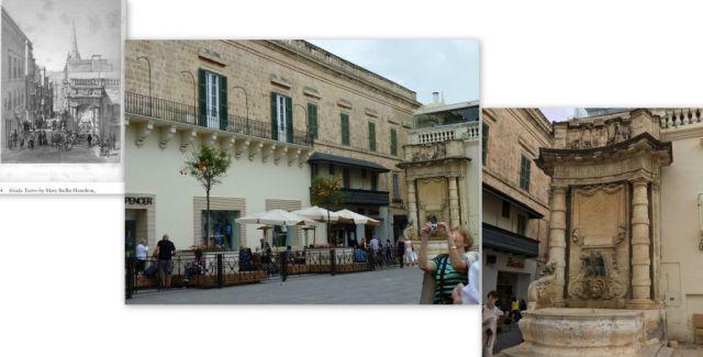 Nagymesteri palota előtt, Strada Teatro -kollázs 3