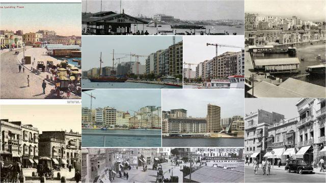 Sliema kikötő - kollázs 7