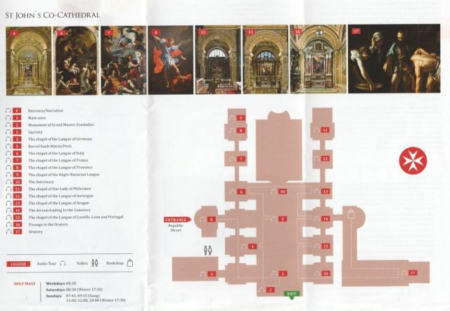St. John co cathedral alaprajz