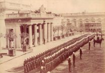 Troop review Main Guard Valletta 1900