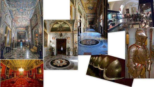 Valletta Nagymesteri palota, belső terek 2 - kollázs