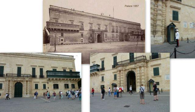 Valletta, Nagymesteri palota - kollázs