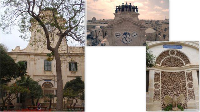 Valletta Nagymesteri palota, udvar, torony - kollázs