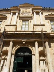 Valletta, Régészeti Múzeum homlokzat - vassallohistory