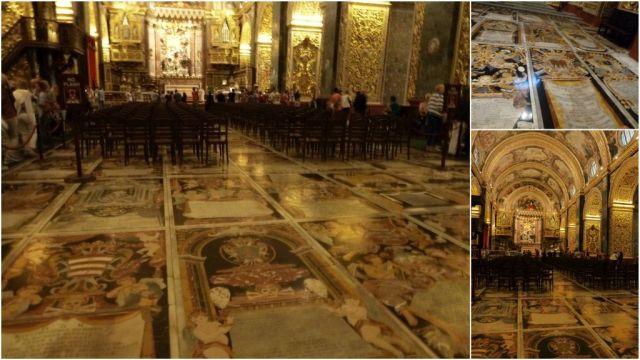 Valletta, St. John co cathedral- márványpadló, kollázs