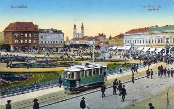 A szabadkai Szent István tér 1914 körül